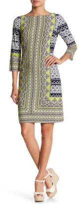 Maggy London Print 3/4 Sleeve Dress $118 thestylecure.com