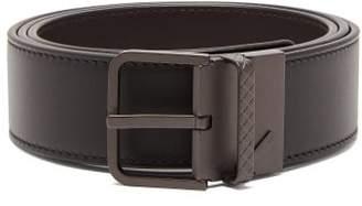 Bottega Veneta Reversible Leather Belt - Mens - Black Brown