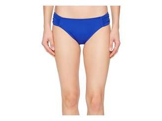 Lauren Ralph Lauren Beach Club Solids Shirred Side Tab Hipster Bottom