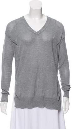 ATM Anthony Thomas Melillo Rib Knit V-Neck Sweater