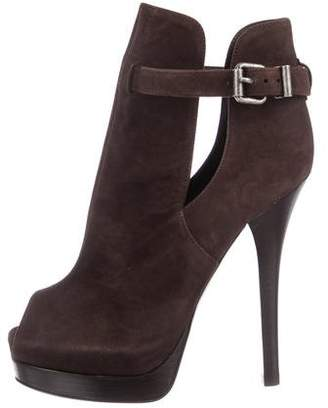 Fendi Peep-Toe Platform Booties