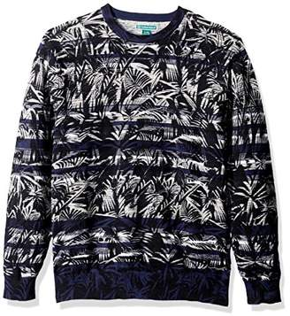 Cubavera Men's Long-Sleeve Crew Neck Printed Sweater