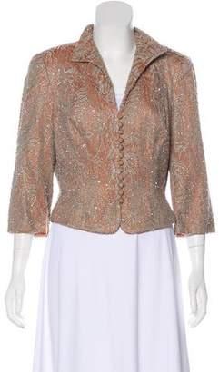Carmen Marc Valvo Embellished Evening Jacket
