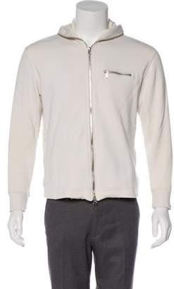 Loopwheeler Zip Accented Hooded Sweater