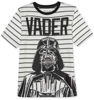 Star Wars Big Boys Darth Vader Influencer Stripe T-Shirt