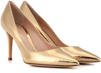 Gianvito Rossi Gianvito 85 metallic leather pumps