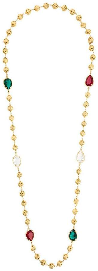 Dolce & Gabbana crystal sphere long necklace
