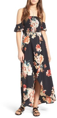 Women's Band Of Gypsies Floral Print Maxi Dress $89 thestylecure.com