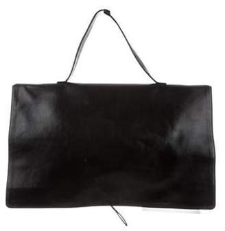 Bottega Veneta Glazed Leather Briefcase Black Glazed Leather Briefcase