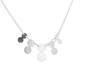 Jane Hollinger Double Drop Necklace in Silver