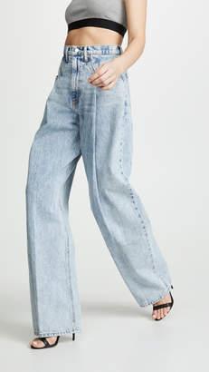 Alexander Wang Denim x Brace Pleated Jeans