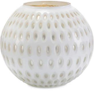 "John-Richard Collection 10"" Opal & Mercury Vase - White/Silver"