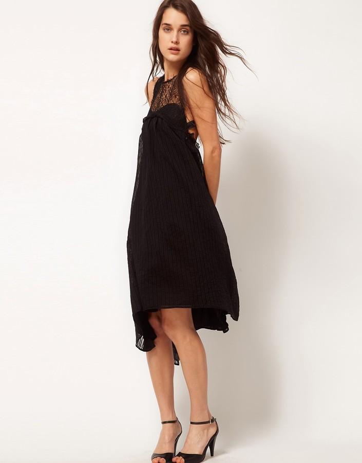 Sophia Kokosalaki Kore by Self Stripe Eye Motif Swing Dress