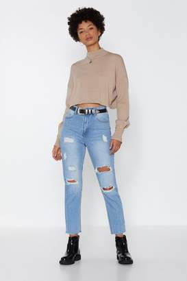 Nasty Gal Cut Through the BS Relaxed Jeans
