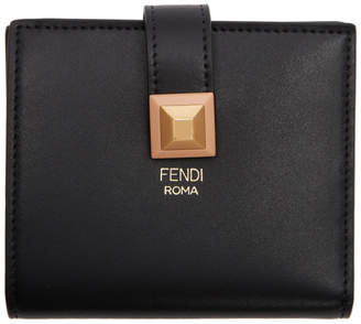 Fendi Black Single Stud Wallet