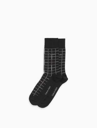 Calvin Klein windowpane logo dress socks