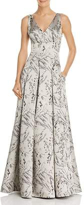 Aidan Mattox Satin Jacquard Gown - 100% Exclusive