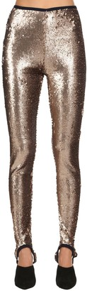 Stella Jean Sequined Stretch Stirrup Leggings