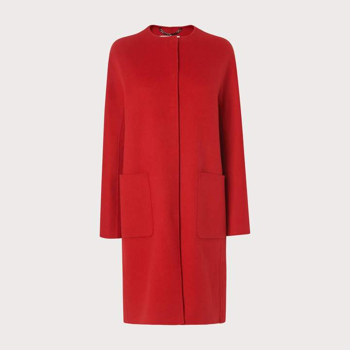 Pandora Red Wool Cashmere Coat