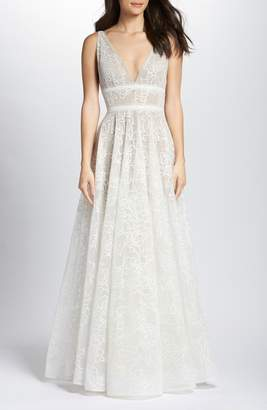 Bronx AND BANCO Emily Floral Tulle A-Line Wedding Dress