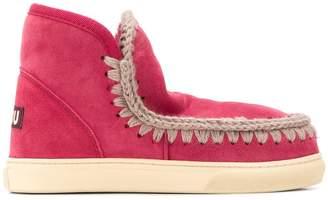 Mou stitch-detail boots