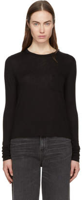 Alexander Wang Black Long Sleeve Classic T-Shirt