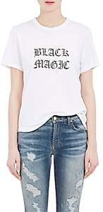 "Amiri Women's ""Black Magic"" Cotton Jersey T-Shirt - White"