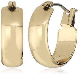 Anne Klein Gold Tone Small Hoop Pierced Earrings