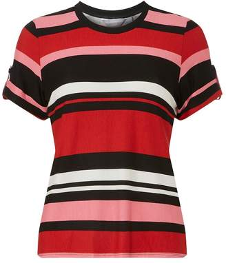 Dorothy Perkins Petite Multi Coloured Stripes Cuff T-Shirt