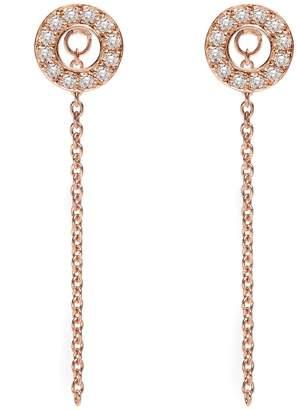 Louise Varberg Jewellery - White Sapphire Hula Earrings Rose Gold