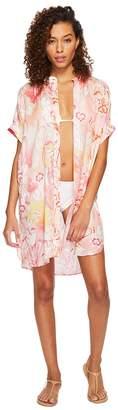 Echo Seaside Floral Shirtdress Cover-Up Women's Swimwear