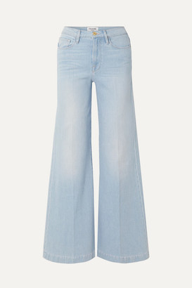 Frame Le Palazzo High-rise Wide-leg Jeans - Light blue
