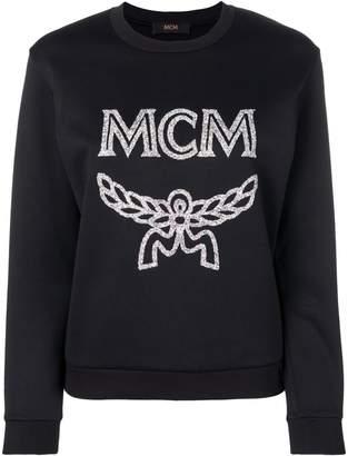 MCM glitter logo print sweatshirt