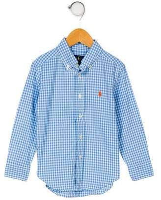 Ralph Lauren Boys' Gingham Button-Up Shirt