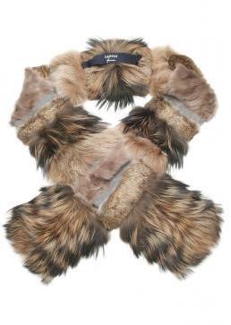 Lanvin Patchwork Fur Scarf