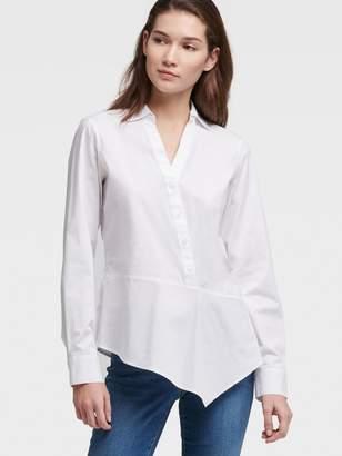 DKNY Asymmetrical Button Up Shirt