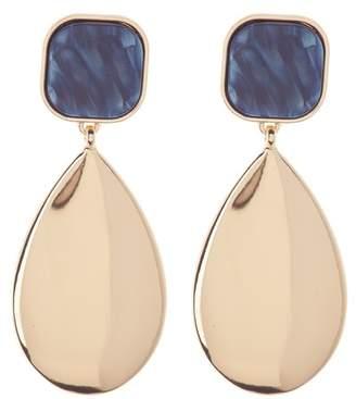 14th & Union Square Resin Metal Pear Drop Earrings