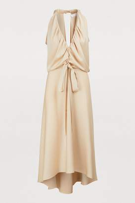 Chloé Satin midi dress