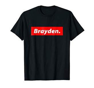 Brayden Shirt - Red Box Logo Personalized Name Clout Gift