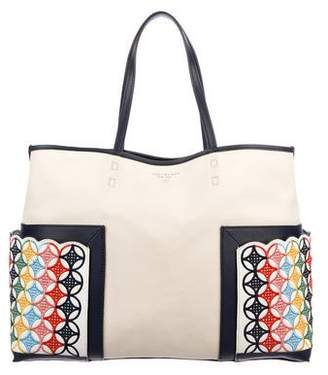 Tory Burch Block-T Embroidered Tote