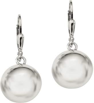 Sterling Bead Dangle Lever Back Earrings by Silver Style