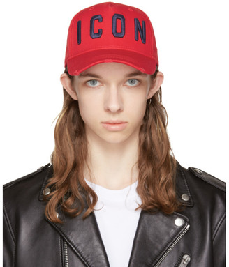 Dsquared2 Red 'Icon' Cap $130 thestylecure.com