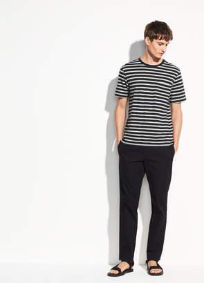 Single Pocket Stripe Short Sleeve Crew
