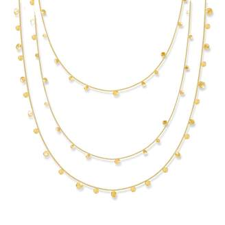Lily Flo Jewellery - Stardust Scattered Stars Triple Strand Layered Necklace