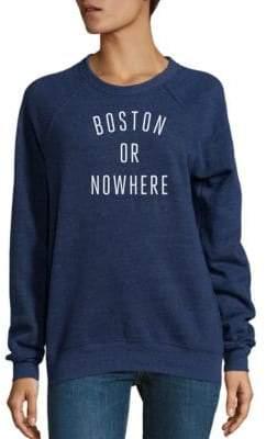 Knowlita Boston Or Nowhere Graphic Sweatshirt