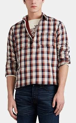 dfdf5be4f Ralph Lauren RRL Men s Sherman Plaid Cotton Popover Shirt - Red
