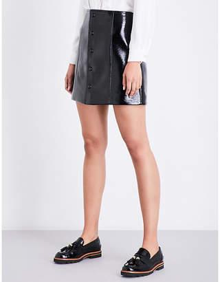 Claudie Pierlot Sydney faux-patent skirt