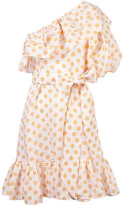 Lisa Marie Fernandez polka dot ruffled day dress