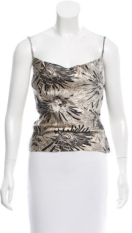 Trina Turk Embellished Silk top