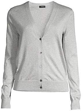 Theory Women's Silk & Cotton Cardigan